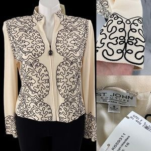 St. John Blazer size 16 Couture embroidery look